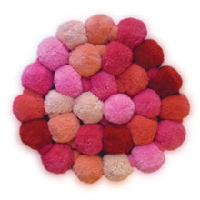 O.B. Designs Pom Pom Garland - Pink Berry