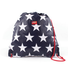 Penny Scallan Drawstring Coated Bag - Navy Star