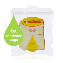 Sinchies Reusable Sandwich Bags (5 pack) (OUT OF STOCK)
