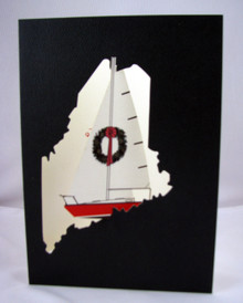 Maine Sailboat Christmas card