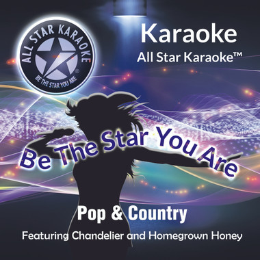 "Mixed Pop & Country (ASK-1505), featuring ""Chandelier"" in the style of Sia and ""Homegrown Honey"" in the style of Darius Rucker  Track 1 Chandelier (in style of Sia)  Track 2 Like A Cowboy (in style Randy Houser)  Track 3 Be My Baby (in style of Ronnettes)  Track 4 Homegrown Honey (in the style Darius Rucker)  Track 5 BDrinking Class (in the style Lee Brice)  Track 6 Something To Believe (in style of Poison)  Track 7 Days Go By (in style of Keith Urban)  Track 8 Neon Light (in the style of Blake Shelton)"