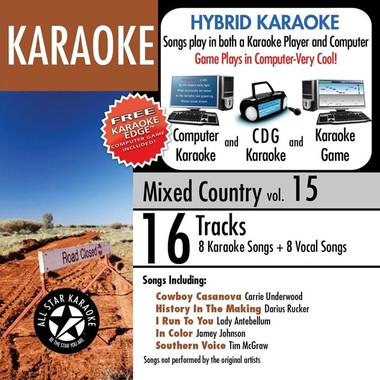 All Star Karaoke Mixed Country ASK-821