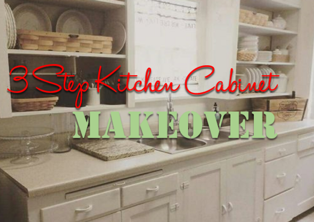 3 Step Kitchen Cabinet MAKEOVER!