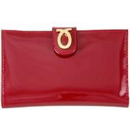 Launer medium new logo purse : Berry Red Patent