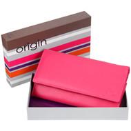 Mala Leather Origin Purse with RFID Shielding: 3272 Pink Box