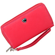 Zip Around Purse RFID Protection Mala Leather Tabitha 3276 Pink: Front