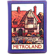 Metro-land Leather Oyster Card Trave Pass Holder : Front