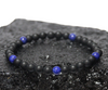 "BOYBEADS ""Gibbons"" Small 6mm matte black onyx + lapis lazuli handmade bracelet"