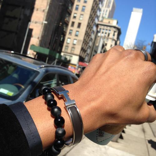 The dark knight boybeads matte polished black onyx 8mm for Housse clic clac new york