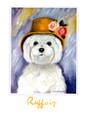 BKG11413 Blank Card - 'Ruffoir' White Dog