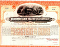 Boston & Maine 50 Year Gold Bond Certificate No. A141 Unsigned