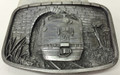 Bergamot #X-45 Pewter Belt Buckle - Train Exiting Tunnel (USA)