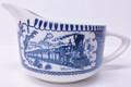 Royal China Currier & Ives Steam Train Creamer - Blue & White
