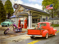 Leanin' Tree #BDG17608 Birthday Card Route 66 Gas Station - Single