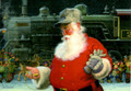 Leanin' Tree #74602 Engineer Santa Christmas Cards (10-pk)