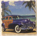 AromaStone Coaster - Classic Woody Station Wagon