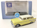 Oxford Diecast #87CN57004 Chevy '57 Nomad - Yellow/White (HO)