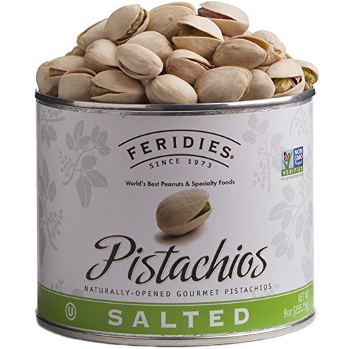 9 oz Can Salted Pistachios