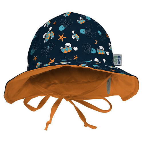 My Swim Baby Sun Hat, Navy Sea Friends, Medium