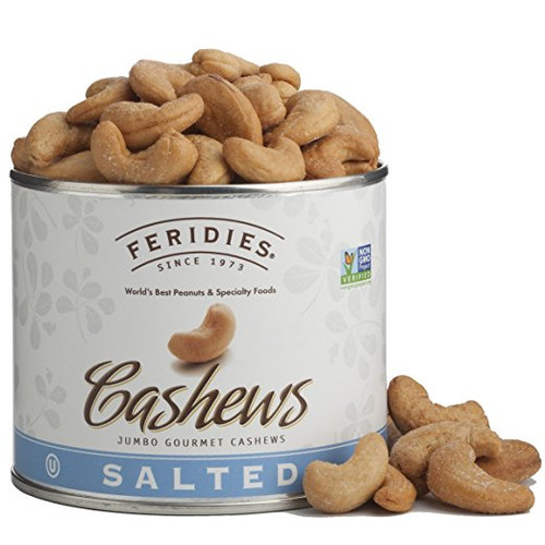 9 oz Can Whole, Jumbo Salted Cashews
