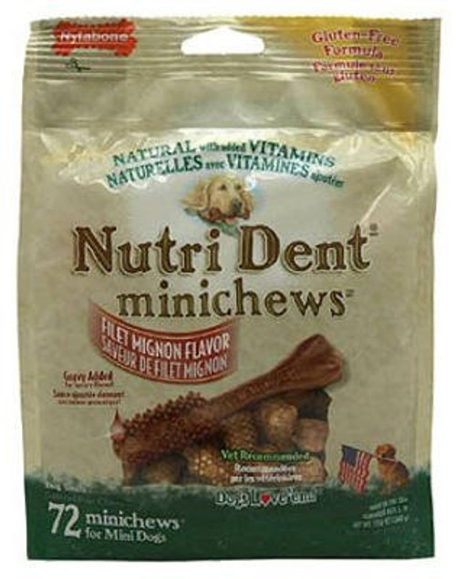 Nylabone Nutri Dent Original Minichews for Mini Dogs, 72-Count Pouch