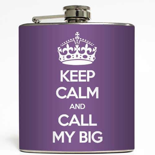 Call My Big - Plum - Liquid Courage Flasks - 6 oz. Stainless Steel Flask