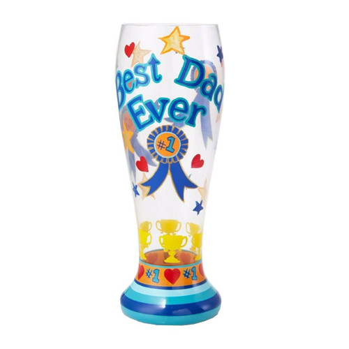 Lolita from Enesco Best Dad Ever Pilsner Glass, Multicolor