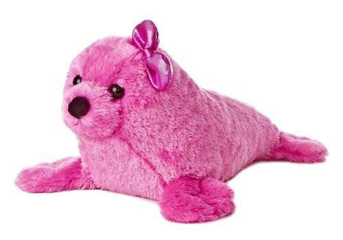"""Aurora Girlz Nation Pink Seal Plush, 14"""""""