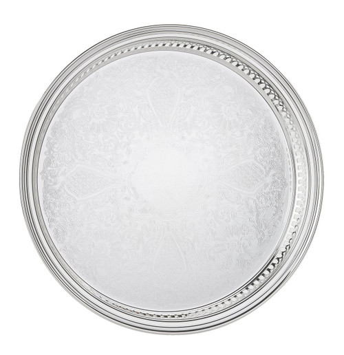 Reed & Barton 410 Gallery Round Tray, 13-Inch