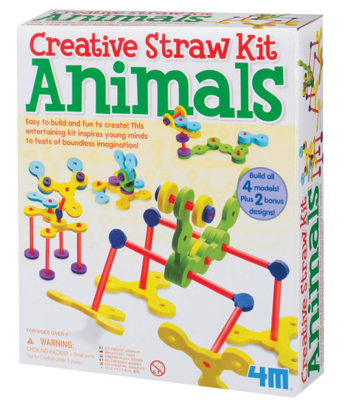 4M Animals Creative Straw Kit