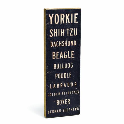 DEMDACO Yorkie Shih Tzu Dachshund Box Sign