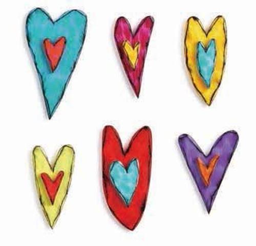 Heart Wall Art – 6 Assorted