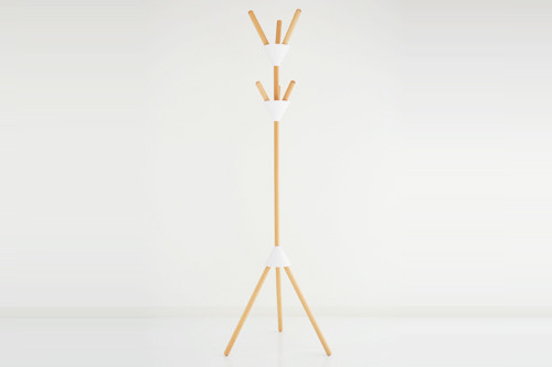 """Alessi """"Pierrot"""" Coat Stand In Wood And Thermoplastic Resin, White"""
