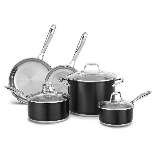 Kitchen Aid Stainless Steel 8-Piece Cookware Set