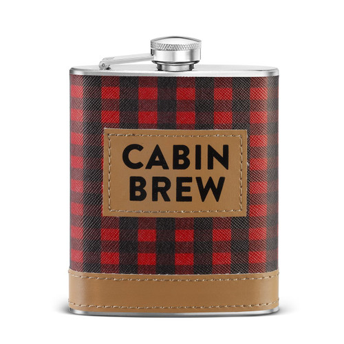 Big Sky Carvers Cabin Brew Flask, Multicolor