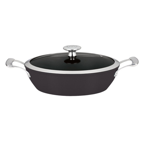 Mario Batali by Dansk Light Enameled Cast Iron Braiser, 4-Quart, Black