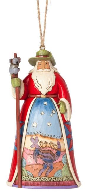 Jim Shore for Enesco Heartwood Creek Australian Santa Ornament, 4.75-Inch