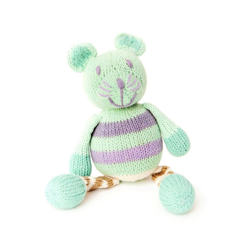 Finn + Emma Organic Cotton Baby Girl Rattle Buddy - Mouse (Discontinued by Manufacturer)