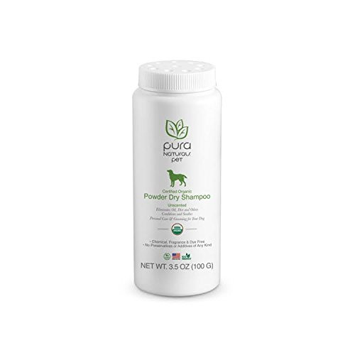 Pura Naturals Pet Certified Organic Powder Dry Waterless Shampoo