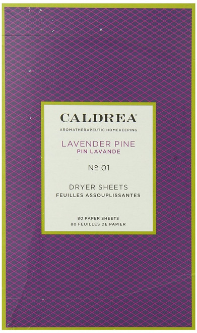 Caldrea Dryer Sheets, Lavender Pine, 80 Count