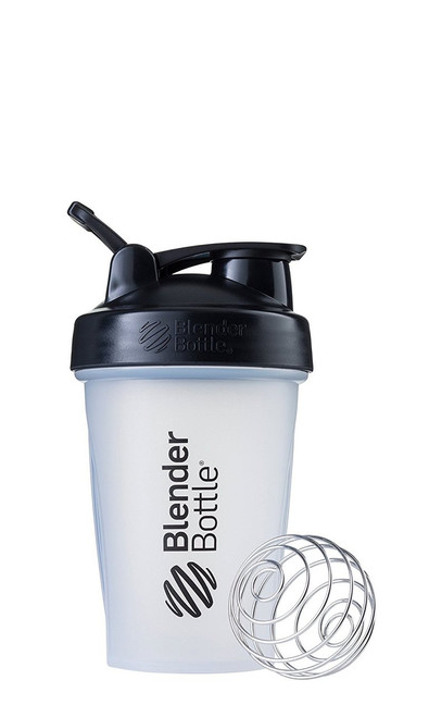 BlenderBottle Classic Loop Top Shaker Bottle, Clear/Black/Black, 20-Ounce Loop Top