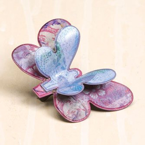 Kelly Rae Roberts Violet Butterfly Clip Ornament * Demdaco Decor