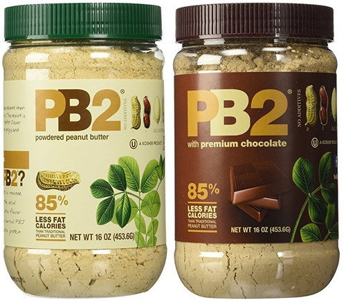 PB2 Powdered Peanut Butter and Chocolate Peanut Butter 1 Lb (Pack of 4 (2 of Each Flavor))