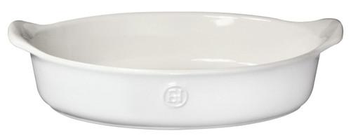 """Emile Henry HR Modern Classics Oval Baker, 14.2 x 9.4"""", White"""