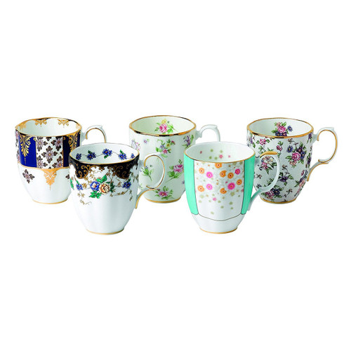 Royal Albert 5 Piece 100 Years 1900-1940 Mug Set, 14.1 oz, Multicolor