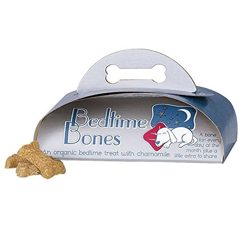 Bedtime Bones, Organic Dog Bone Treats with Chamomile to Help Your Dog Sleep
