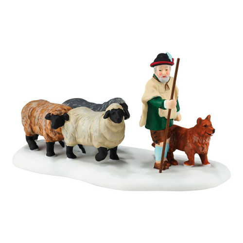 Department 56 Alpine Village Accessory Figurine Shephering The Flock