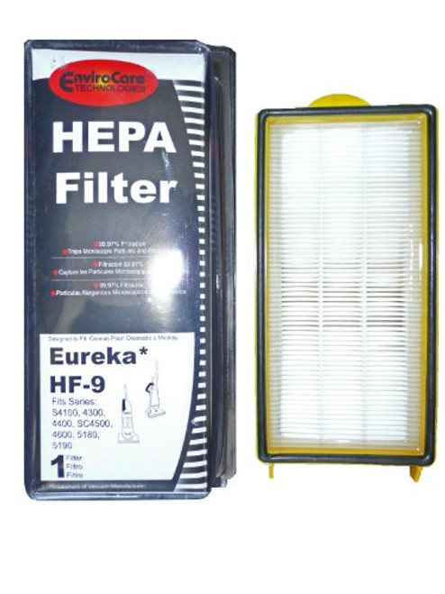 (1) 60285 Eureka HF9 Hepa Pleated Vacuum Filter, Bagless Cyclonic, Heavy Duty Upright, Self Propelled, Cleaner & Cycloni