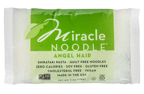 Miracle Noodle Zero Carb, Gluten Free Shirataki Pasta, Angel Hair, 7-Ounce (Pack of 6)