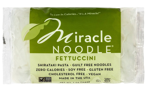 Miracle Noodle Zero Carb, Gluten Free Shirataki Pasta, Fettuccini, 7-Ounce (Pack of 6)